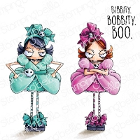 ODDBALL STEPSISTERS RUBBER STAMP