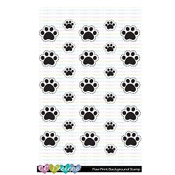 Paw Print Background Stamp