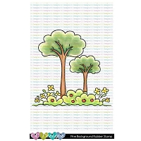 PINE BACKGROUND RUBBER STAMP