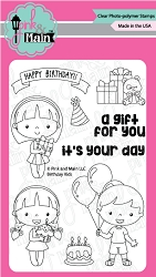Birthday Kids Clear Stamp