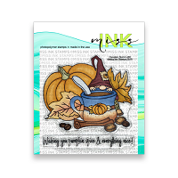 Pumpkin Spice Latte - Miss Ink 4x4 Stamp