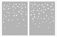 Card-Sized Star Confetti Stencil Set WS