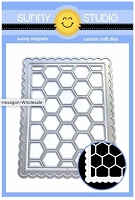 FRILLY FRAMES HEXAGON