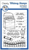 Crayons Clear Stamps