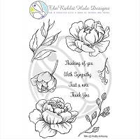 Pretty in Peony Clear Stamp 4x6