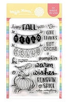 Fall Greetings Waffle Flower Stamp
