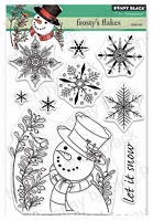 Frosty's Flakes Penny Black Clear Stamp