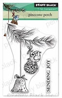 Pinecone Perch Clear Stamp