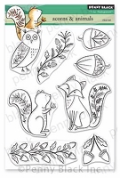 Acorn & Animals Clear Stamp