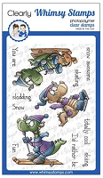 Winter Sports Dragons Clear Stamps