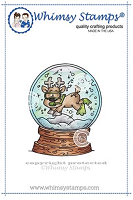 Scuba Deer Rubber Cling Stamp