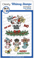 Santa and Stockings Clear Stamps