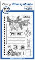 Christmas Postcard Clear Stamps