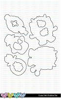 CUTIE YETI OUTLINE METAL DIE