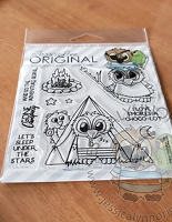 Brentwood Owl Let's go Camping Smores Banner 4x4 Clear Photopolymer Stamp Set