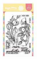 Tulips Waffle Flower Stamp