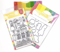 Prost Germany Waffle Flower Stamp and Die Set
