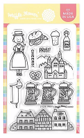 Prost Germany Waffle Flower Stamp