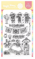 Hola Mexico Waffle Flower Stamp