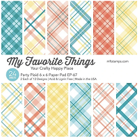 Party Plaid Paper Pad