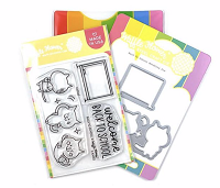 Back To School Waffle Flower Stamp and DIe Set