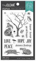Winter Tree & Animals Hero Arts Clear Stamps 4