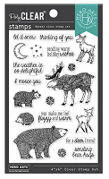 Fuzzy Winter Animals Hero Arts Clear Stamps 4