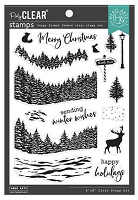 Winter Woods Hero Arts Clear Stamps 6