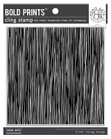 Abstract Linocut Bold Prints Hero Arts Cling Stamps 6
