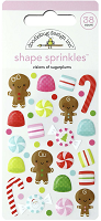 Doodlebug Night Before Christmas Visions of Sugarplums Sprinkles Shape