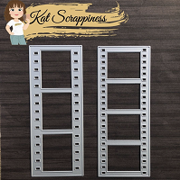 Slimline Film Strip Border Dies by Kat Scrappiness - 2 pc set