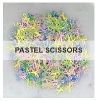 Pastel Scissors Sequins by Kat Scrappiness