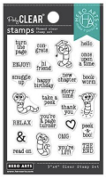 Bookworm Messages Hero Arts Clear Stamps 3