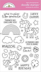 Rainbows & Unicorns Doodlebug Clear Doodle Stamps