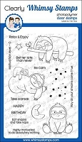 Sleepy Sloths Clear Stamps