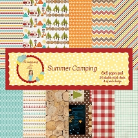 Summer Camping 6X6 Scrapping for Less Paper Pad
