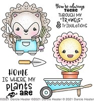 Hedgehog Garden - Clear Stamp