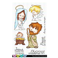 TINY JESUS CLEAR STAMP SET