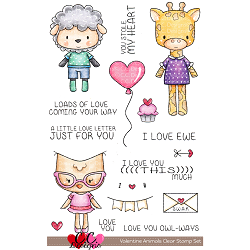 Valentine Animals Stamp Set