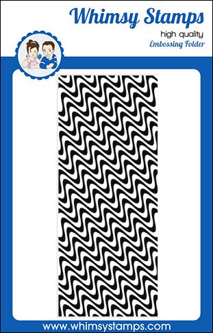 Slimline Embossing Folder - Wave Lengths