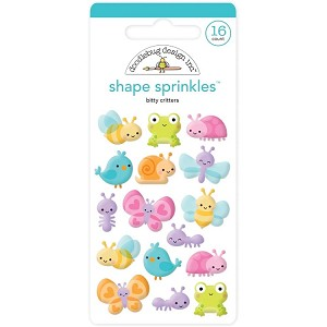 Little Critters Doodlebug Sprinkles Adhesive Glossy Enamel Shapes