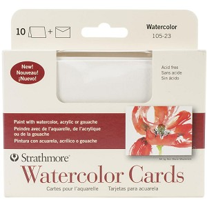 Watercolor Strathmore Cards & Envelopes 3.5