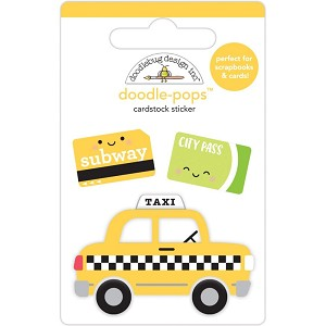 Taxi!, I Heart Travel Doodle-Pops 3D Stickers