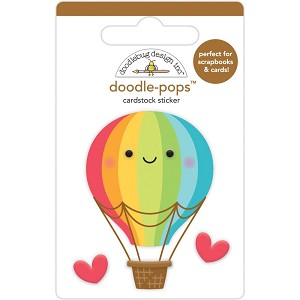 Up, Up & Away, I Heart Travel Doodle-Pops 3D Stickers
