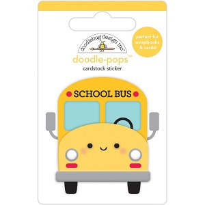 school bus Doodle-Pops 3D Stickers