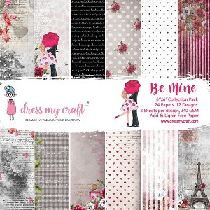 Be Mine - Dress My Crafts Single-Sided Paper Pad 6