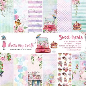 Sweet Treats - Dress My Crafts Single-Sided Paper Pad 6