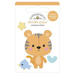 Cuddly Cub, Special Delivery Doodlebug Doodle-Pops 3D Stickers