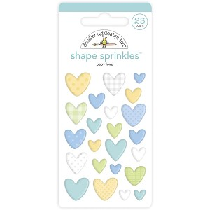 Baby Love, Special Delivery Doodlebug Sprinkles Adhesive Enamel Shapes