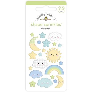 Nighty Night, Special Delivery Doodlebug Sprinkles Adhesive Enamel Shapes